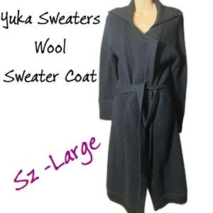 Yuka Sweaters Wool Coat